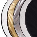 Светлинен фото рефлектор /диск 5в1 - 80см