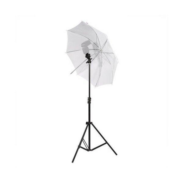 Комплект дифузен чадър,статив и държач за светкавица