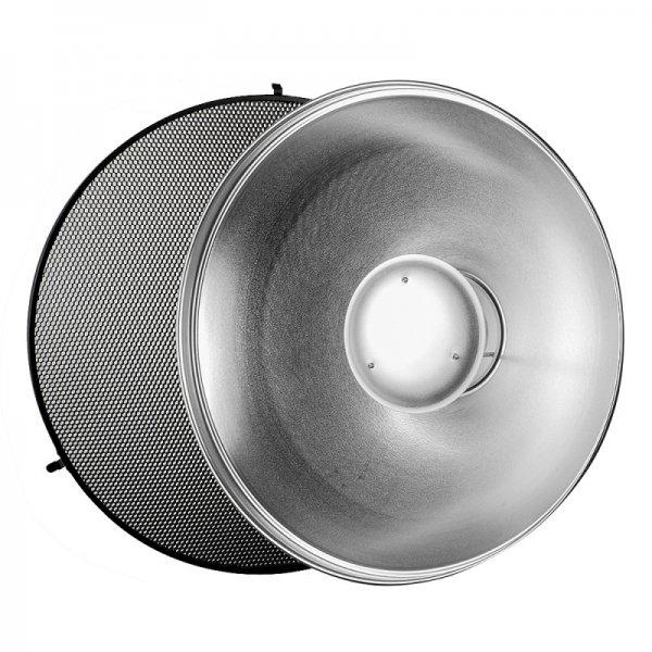 55см  рефлектор Beauty dish със сребриста повърхност + пчелна пита