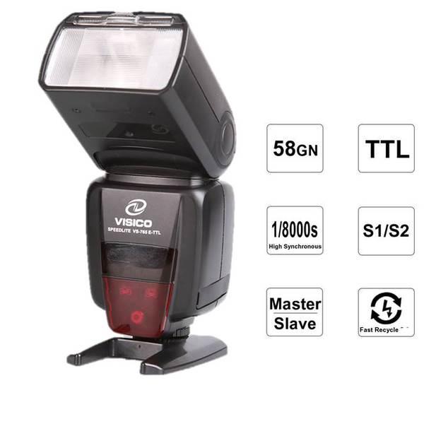 Ръчна светкавица Visico 765TTL HSSза Canon