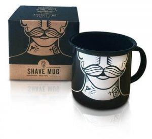 Емайлирано метално канче TATTOO - Shaving Mug Barber Pro