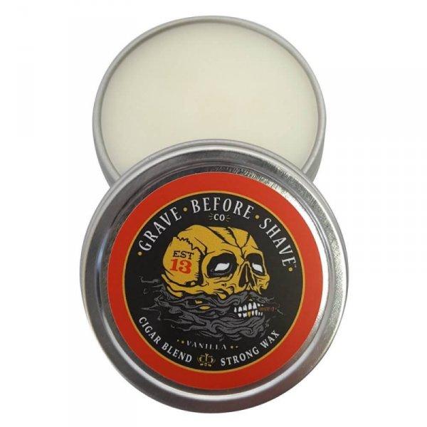 Вакса за мустаци, с аромат на ванилия - Grave Before Shave Vanilla Cigar Blend Moustache Wax