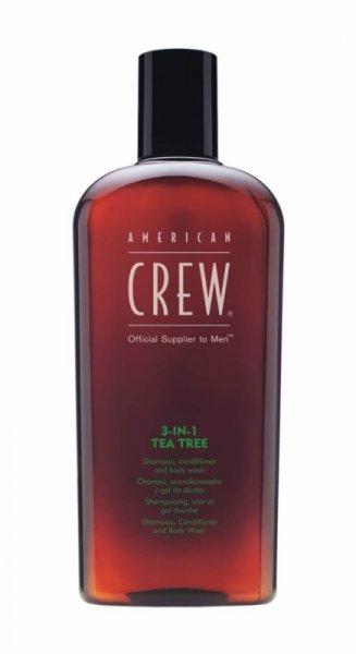 Шампоан, балсам и душ гел 3-в-1 чаено дърво - American Crew 3-in-1 Теа Tree