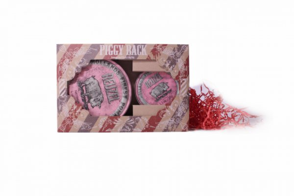 Комплект 1+1 БОНУС помада за коса, със силна фиксация и слаб блясък- Reuzel Pink Piggy Back Set