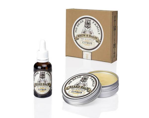 Комплект за брада - Mr.Bear Family Brew & Balm Citrus