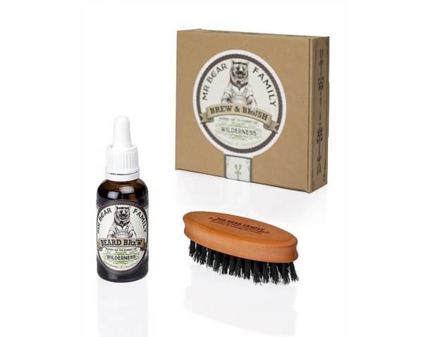Комплект четка и масло за брада - Mr.Bear Family Brew & Brush Wilderness