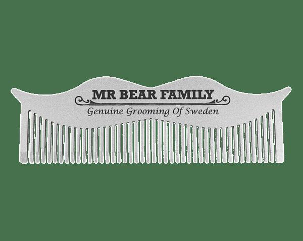 Гребен за мустаци от неръждаема стомана - Mr.Bear Family Moustache Comb