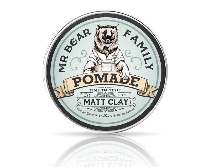 Матиращ клей за коса - Mr.Bear Family Matt Clay Pomade