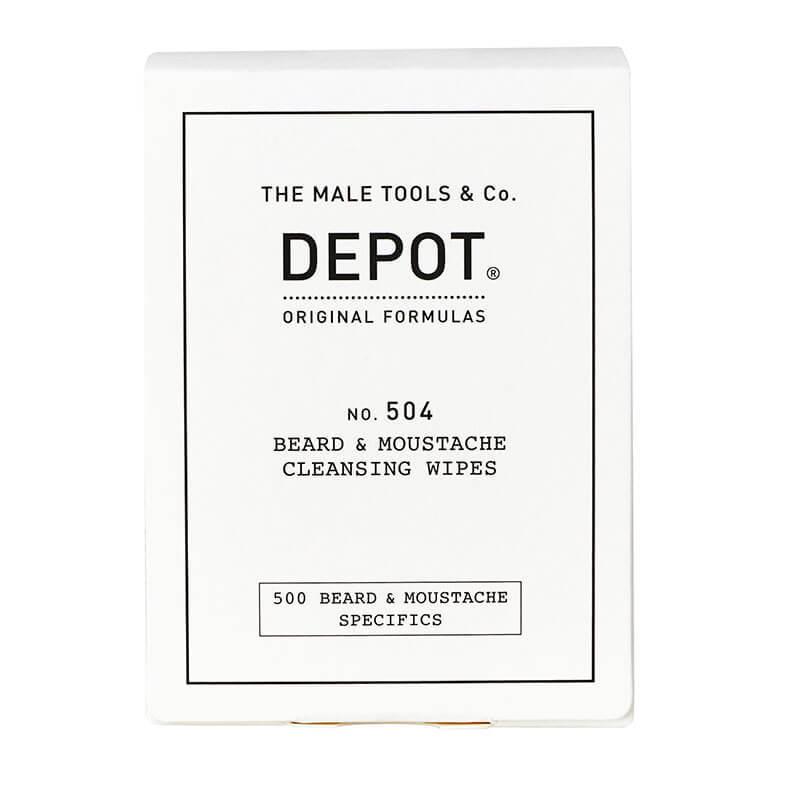 Почистващи кърпички за брада и мустаци - Depot Beard & Moustache Cleansing Wipes