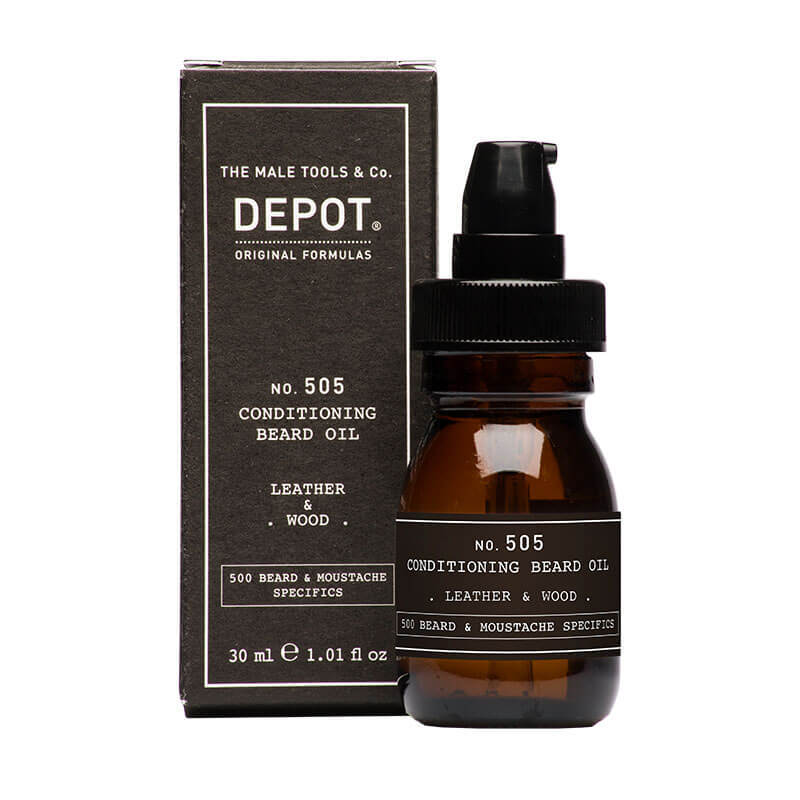 Масло за брада - Depot Beard Oil LEATHER & WOOD