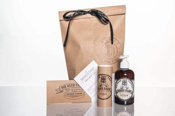 Подаръчен ПРОМО сет - Пълна грижа за брадата от Mr.Bear Family + ваучер за оформяне на брада