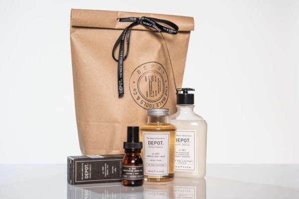Подаръчен ПРОМО сет Depot - масло за брада, шампоан за брада и душ гел за тяло