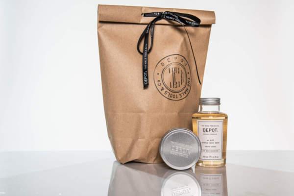 Подаръчен ПРОМО сет Depot вакса за коса и душ гел за тяло