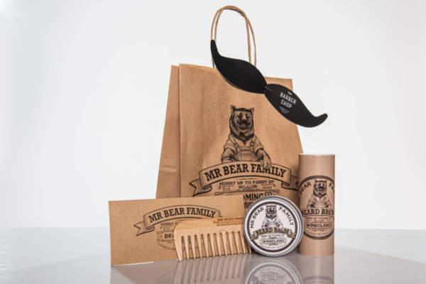 Подаръчен ПРОМО сет Mr.Bear Family масло, балсам и гребен за брада