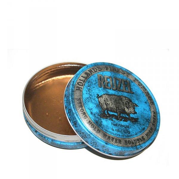 Водоразтворима помада за коса със силна фиксация и лек блясък - Reuzel Blue