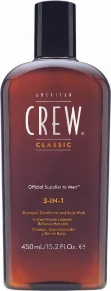 Шампоан, балсам и душ гел 3 в 1 - American Crew 3-in-1