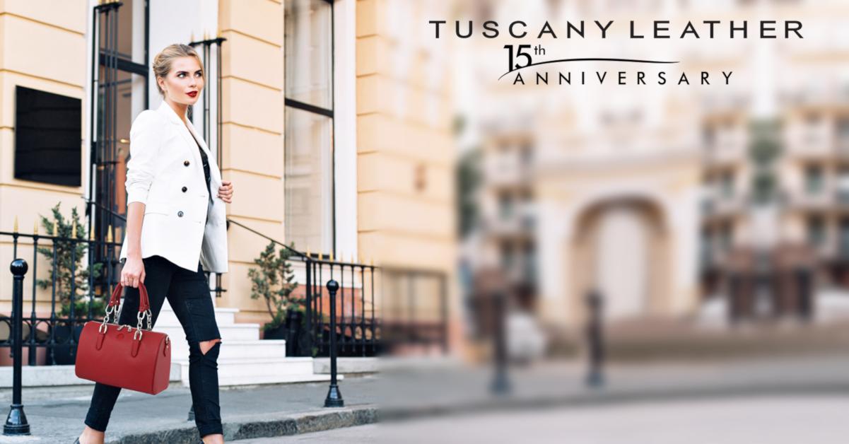 Италианска чанта от естествена кожа Narciso на Tuscany Leather
