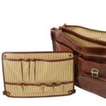 Италианска мъжка бизнес чанта от естествена кожа VENTIMIGLIA TL142069
