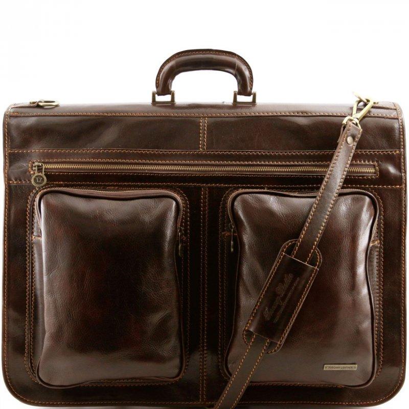 Пътна чанта от естествена кожа