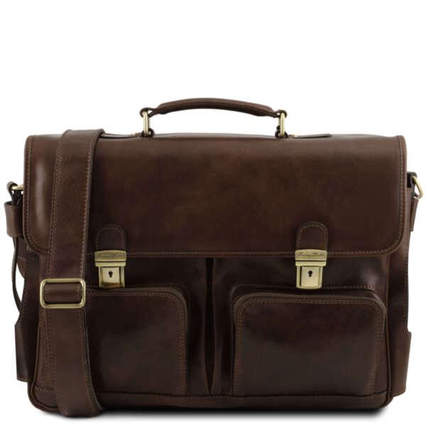 Италианска мъжка бизнес чанта за лаптоп до 15.6'' Ventimiglia TL141449