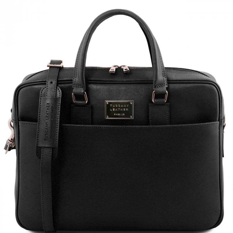 Бизнес чанта от естествена Saffiano телешка кожа