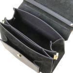 Италианска чанта от естествена кожа и велур Andromeda