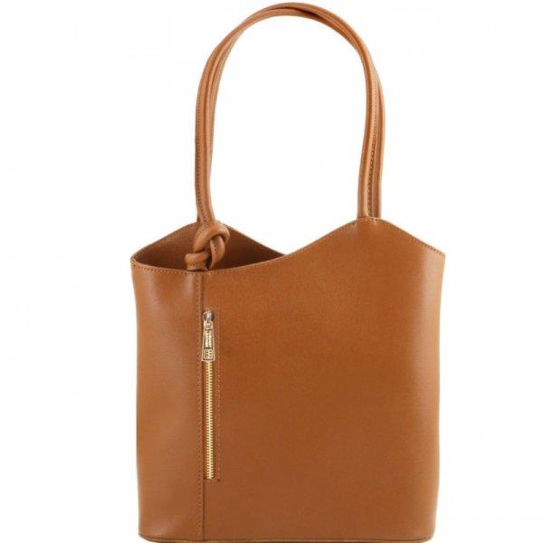 Италианска чанта раница 2 в 1 от естествена кожа Patty TL141455