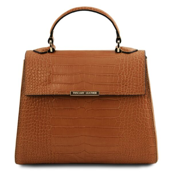 Италианска чанта от естествена релефна кожа TL BagTL141887