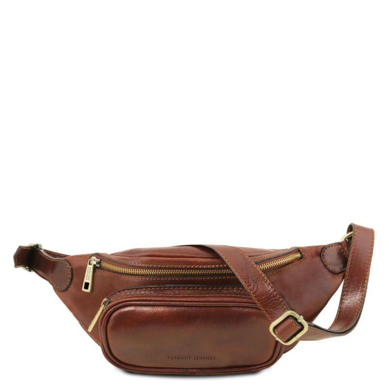 Италианска мъжка чанта за кръста от естествена кожа TL141797