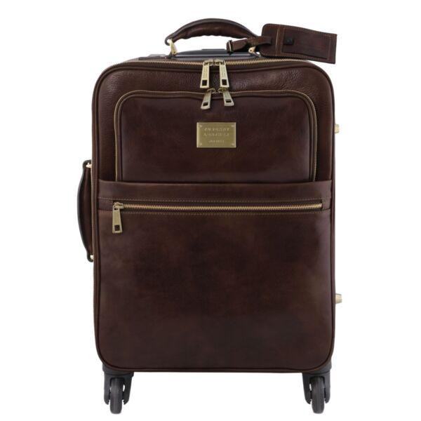Италиански кожен куфар с 4 колела TL Voyager TL141911