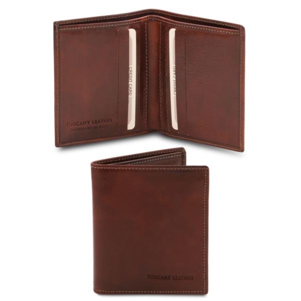 Италиански мъжки портфейл от естествена кожа TL142064