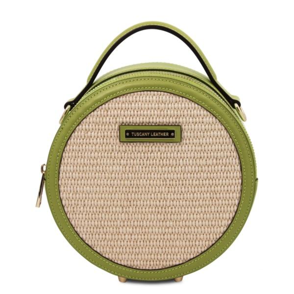 Италианска кръгла дамска чанта THELMA TL142090