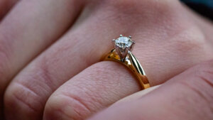 Годежни пръстени с диамант Изображение