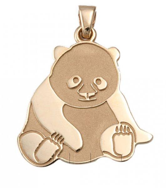 """Златен медальон """"ПАНДА"""""""