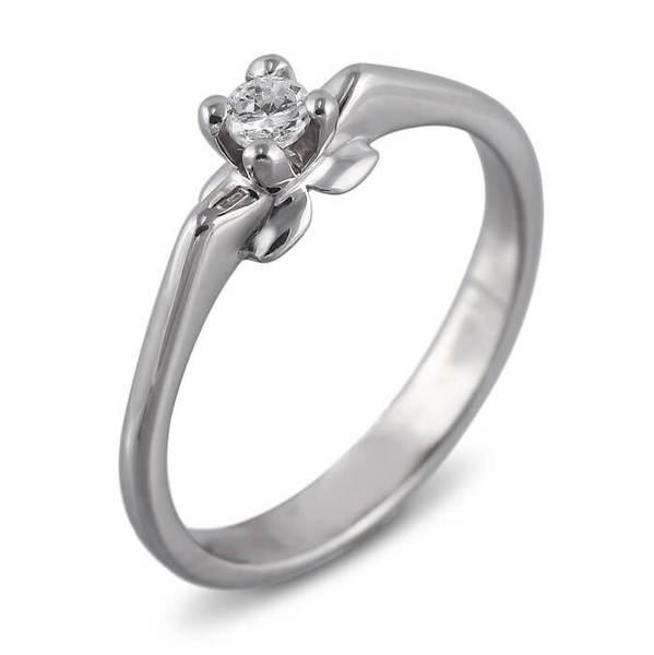 """Златен годежен пръстен """"ЦВЯТ"""" R-1163"""