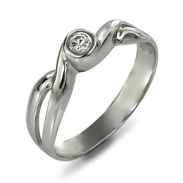"""Златен годежен пръстен """"ПЪСТЪР"""" R-1138"""