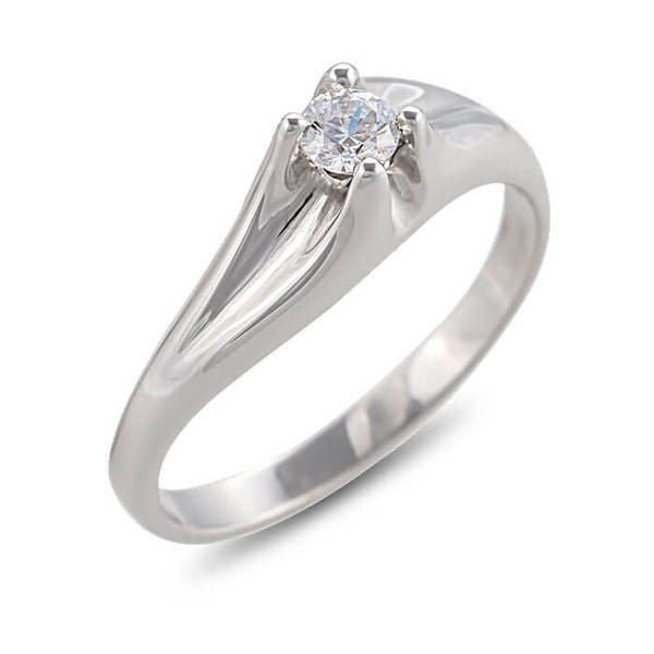 """Златен годежен пръстен """"СМЕЛ"""" R-1098B"""