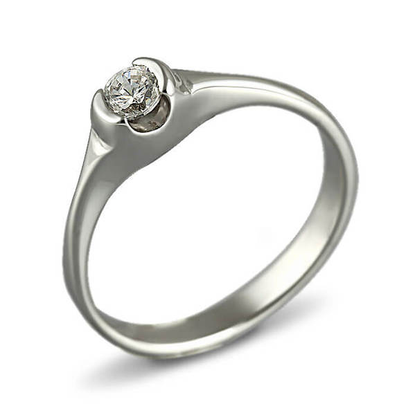 "Златен годежен пръстен ""БИСЕР"" R-1133"