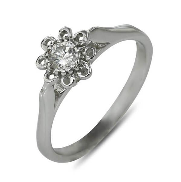 """Златен годежен пръстен """"ВЕЧНОСТ"""" R-1121"""