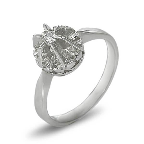 "Златен годежен пръстен ""КОРОНА"" R-2063"