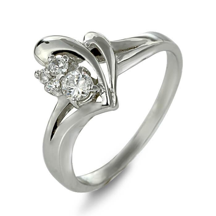 Годежен пръстен бяло злато с диамант 0.16 tcw