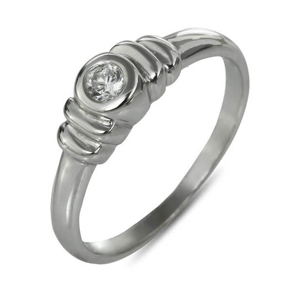 """Златен годежен пръстен """"ПЛИСЕ"""" R-1144"""