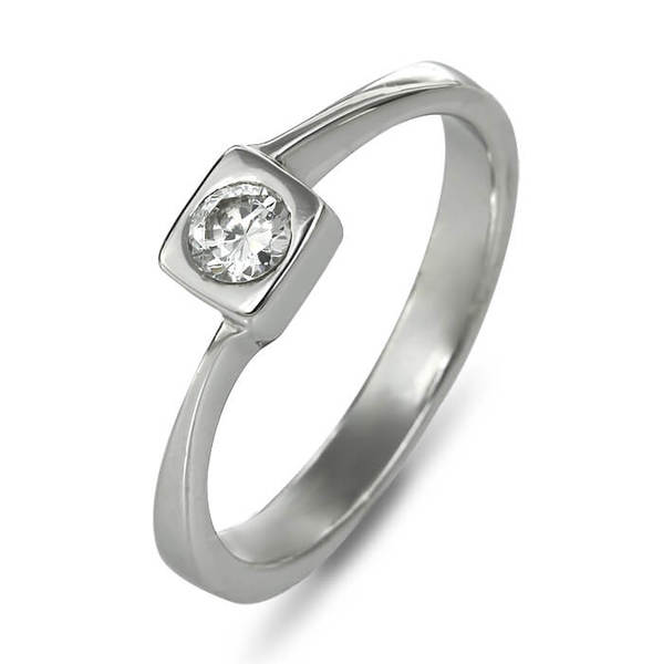 """Златен годежен пръстен """"КВАДРАТ"""" R-1155"""