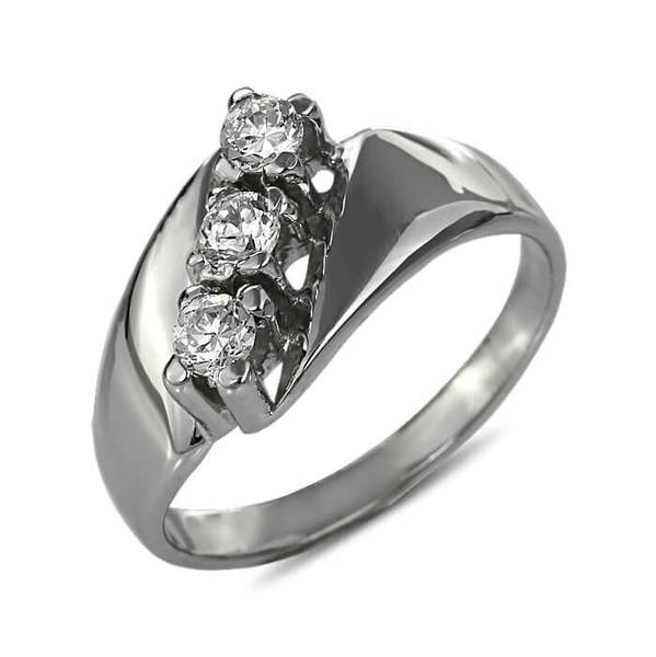"""Златен годежен пръстен """"ТРОЕН"""" R-1041"""