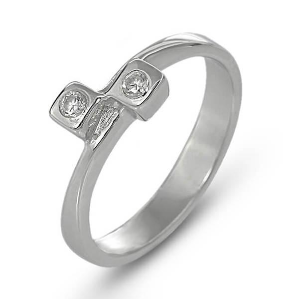 """Златен годежен пръстен """"ДВОЕН"""" R-1134"""