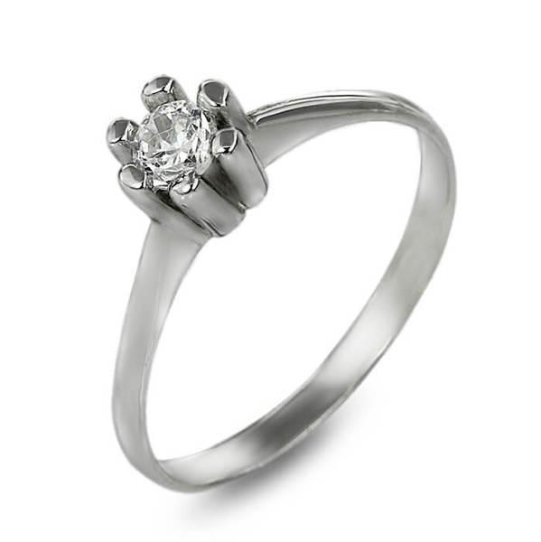 """Златен годежен пръстен """"ПРИНЦЕСА""""  R-1052"""