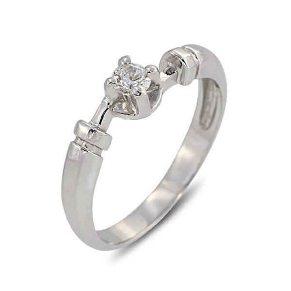 """Златен годежен пръстен """"ПРИЯТЕН"""" R-1110"""