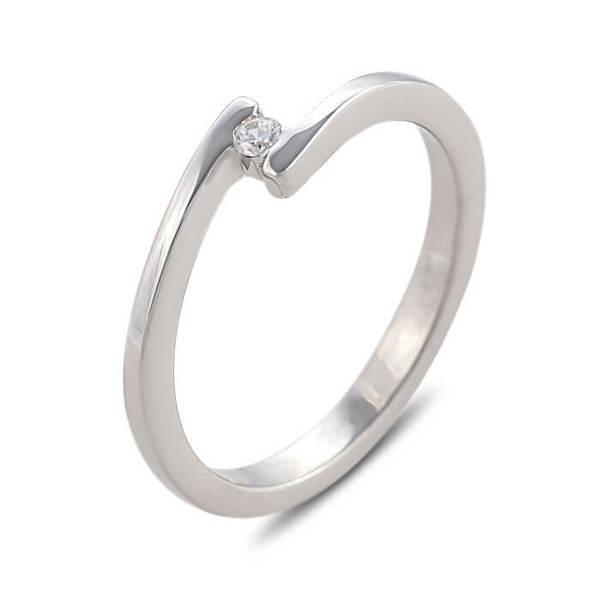 """Златен годежен пръстен """"НИМФА"""" R-1158"""