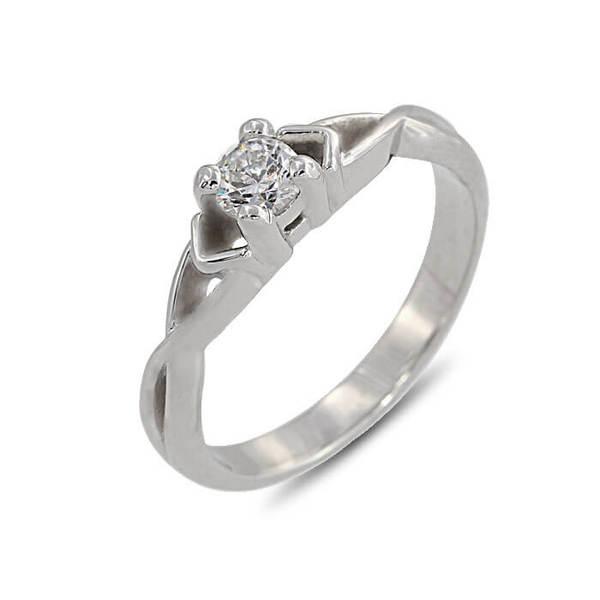 """Златен годежен пръстен """"РАЗВЪЛНУВАН"""" R-1171"""