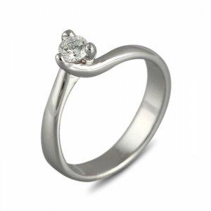 """Годежен пръстен """"ИСКРА-цирконии"""" R-1135"""